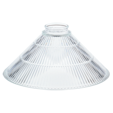Prismatic 10in. Clear Ribbed Cone Shade