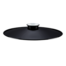 10in. Industrial Steel Reflector - Gloss Black