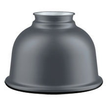 Small Metal Dome Shade - Matte Gray