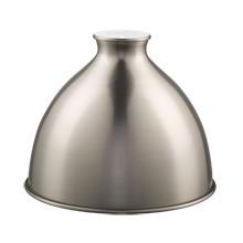 7in. Industrial Brass Dome - Brushed Nickel