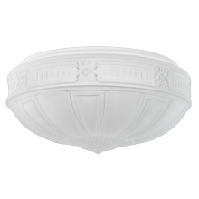 Neoclassical 12in. Frosted Bowl Shade