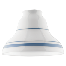 7in. Bell Shade with Blue Plate