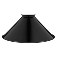 8in. Gloss Black Steel Cone Shade