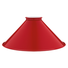 8in. Tomato Red Steel Cone Shade