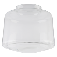 8in. Clear Schoolhouse Drum Shade
