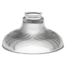 "Prismatic 8"" Clear Ribbed Bell Shade"