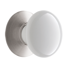 Porcelain Knob w/ Backplate