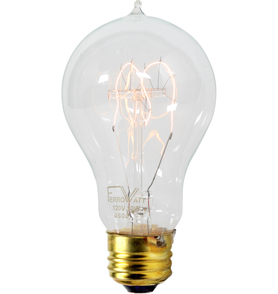 40w double loop tungsten filament bulb rejuvenation Tungsten light bulbs