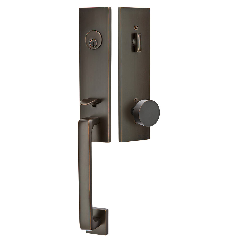 Front Door Accessories: Davos Exterior Tubelatch Lockset With Round Knob