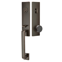 Davos Exterior Tubelatch Lockset with Round Knob