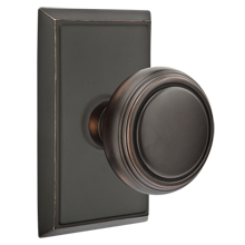 Norwich Knob with Rectangular Backplate