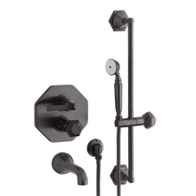 Canfield Thermostatic Tub Shower Set With Handheld