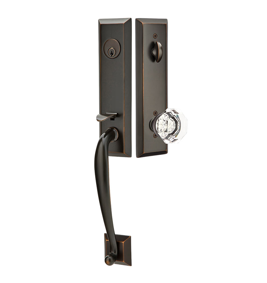 Mission style door hardware - Adams Exterior Tubelatch Door Set With Old Town Knob