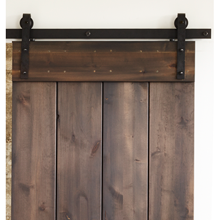 6' Hand-Hammered Barn Door Track Kit