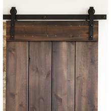 6' Hand-Hammered Barn Door Track Kit