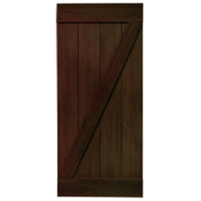 "36"" Rustic Alder Z-Brace Door Kit - Pitch Black"