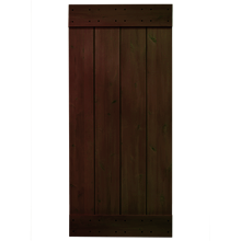 "36"" Rustic Alder Plank Door Kit - Pitch Black"