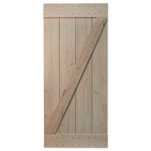 "36"" Rustic Alder Z-Brace Door Kit - Light Cream"