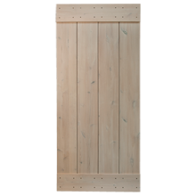 "36"" Rustic Alder Plank Door Kit - Light Cream"