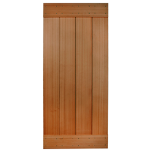 "36"" Cedar Plank Door with Clear finish"