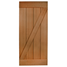 "36"" Cedar Z-Brace Door with Clear finish"