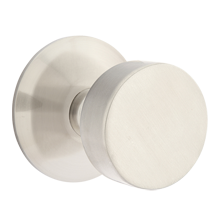 Round Knob with Modern Round Backplate