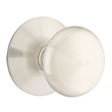 Providence Knob with Modern Round Backplate