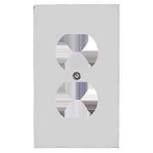 Fenton Single Duplex Coverplate
