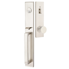Lugano Round Knob Exterior Mortise Lock Set