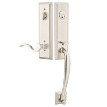 Adams Exterior Tubelatch Door Set with Cortina Lever