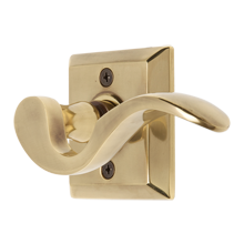 Cortina Lever Passage Set with Small Quincy Backplate