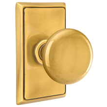Providence Knob with Rectangular Backplate