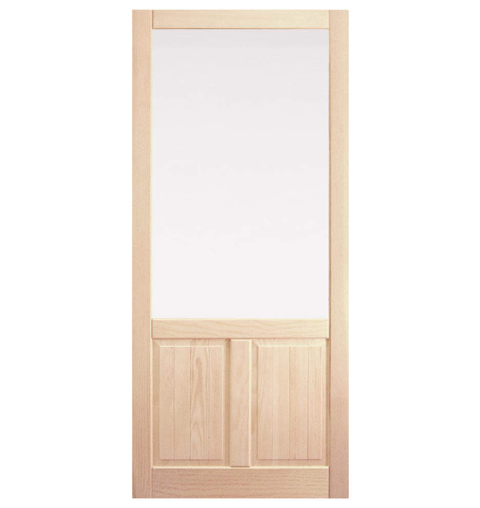 Fir screen door with double panel bottom rejuvenation for Double door screen door