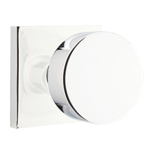 Round Knob with Square Backplate