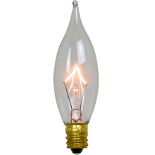 15W Flame-tip Candelabra