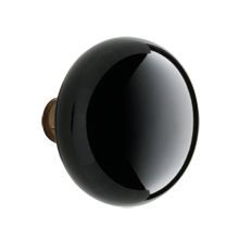 Black Porcelain Knob