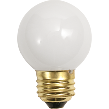 25W Small White Globe