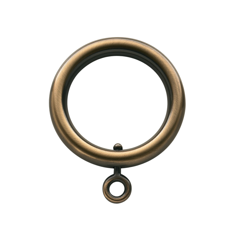 "Brass Curtain Ring With Eyelet For 1"" Rods"
