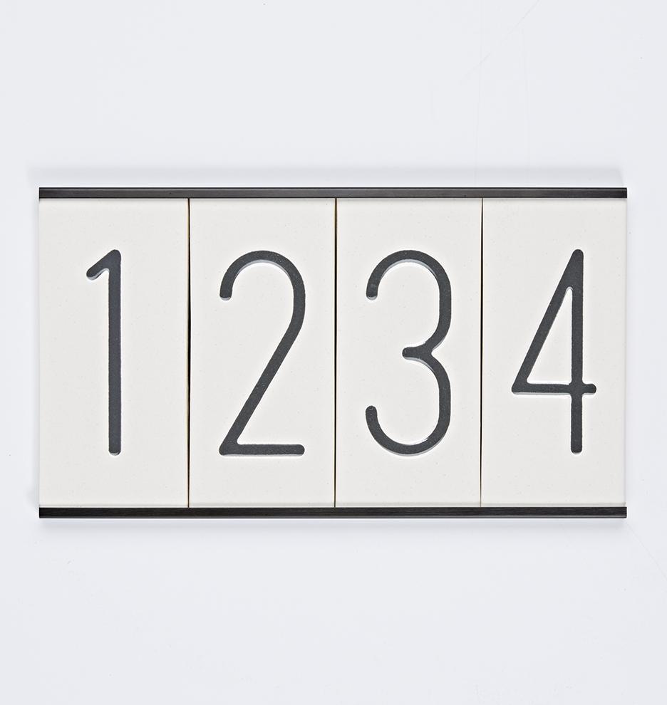 Modern Ceramic House Numbers Rejuvenation