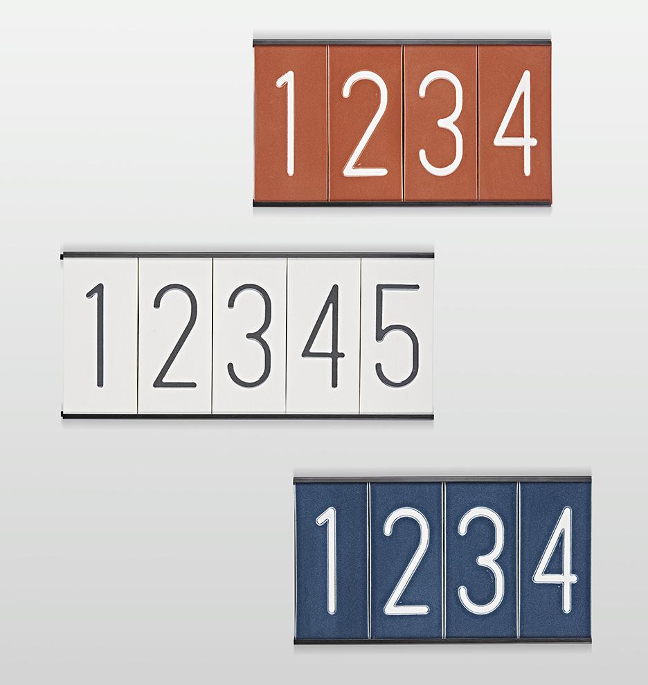 Modern eramic House Numbers ejuvenation - ^