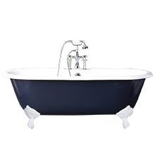 5-1/2' Double-Ended Clawfoot Tub with Navy Exterior