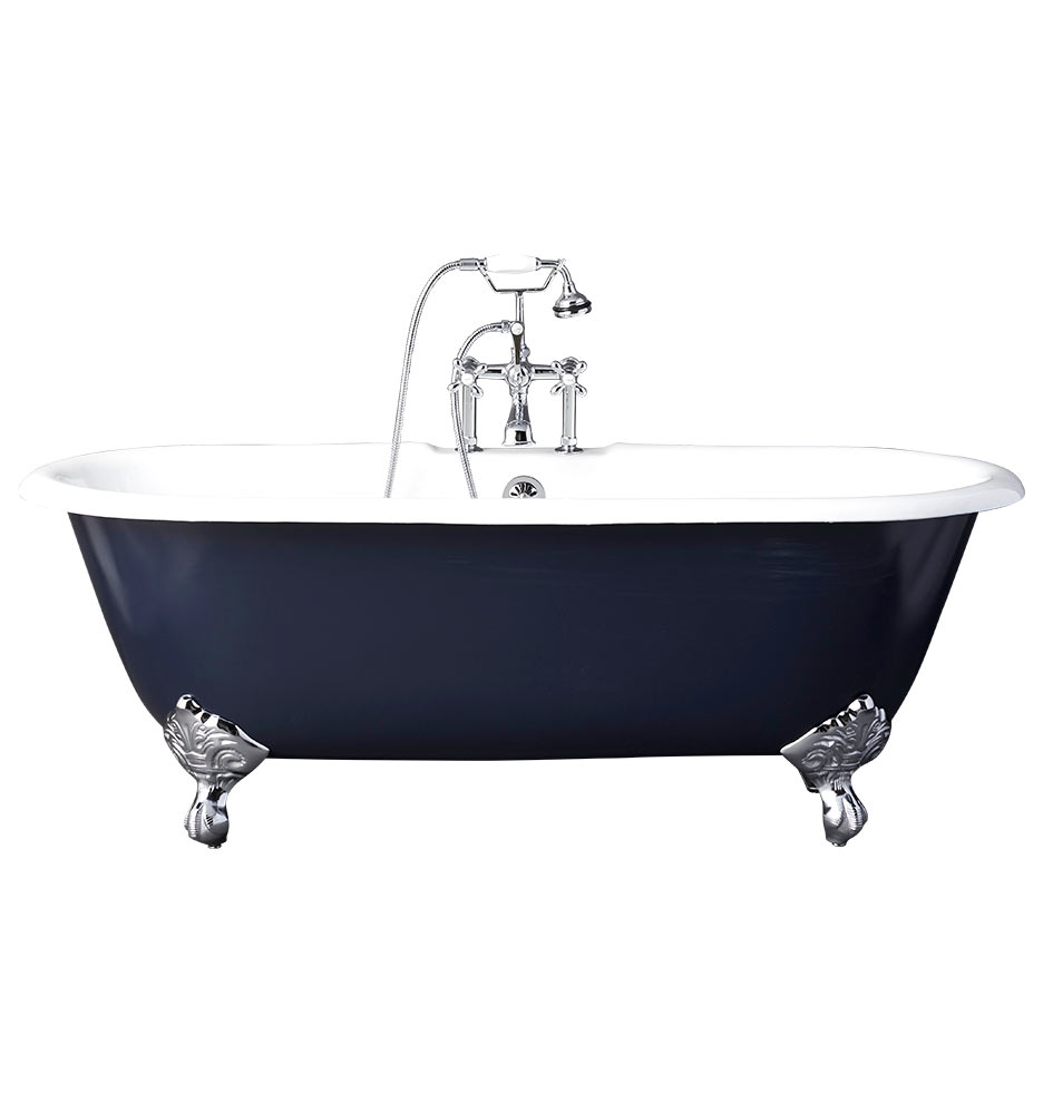5 1 2 clawfoot tub with black exterior