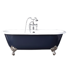 512u0027 doubleended clawfoot tub with navy exterior - Claw Foot Tub