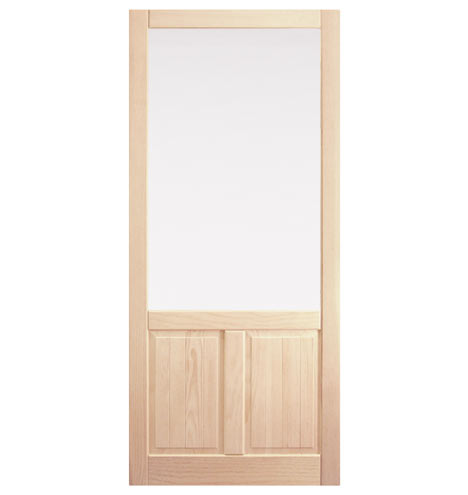 Fir storm door with double panel bottom rejuvenation for Storm doors for double entry doors