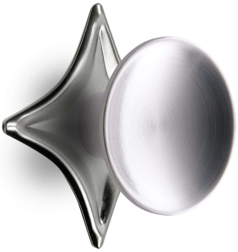 Dish Cabinet Knob With Star Backplate Rejuvenation