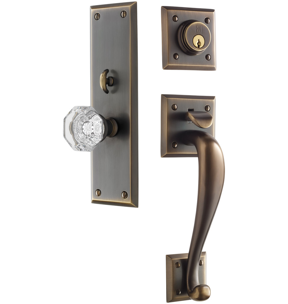 Exterior Door Locks : Coleman octagonal crystal knob exterior door set