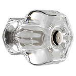 Hexagonal Glass Cabinet Knob With Steel Bolt