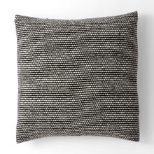Wool Tweed Emphasize Pillow Cover - Black & White