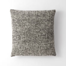 Wool Mended Tweed Pillow Cover - Black & White