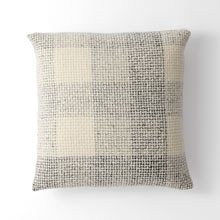 Wool Plaid Tweed Pillow Cover - Gray